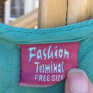 FASHION TERMINAL Swim - TURQUOISE 🏖 SWIM COVER-UP BEACH DRESS Size L/XL